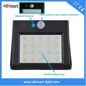 Quality IP65 PIR Solar Lights Motion Sensor 20LED 300lumens 4W Solar Garden Wall Light for Landscaping and Ilumination for sale