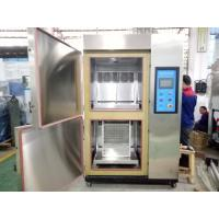 2 Zones Type Hot Cold Air Thermal Shock Chamber With Basket Lifter For Auto Parts Manufactures