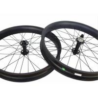 Quality Tri Spoke Tubeless Carbon Fat Bike Wheels Clincher Aero Roof Surface For Cycling for sale