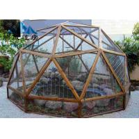 Easy Assembled Geodesic Dome Greenhouse Selectable Size Soft PVC Walls & Glass Walls Manufactures