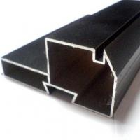 Black Powder Coated RAL9006 Aluminium LED Profiles / Aluminum Extrusion Profiles Manufactures