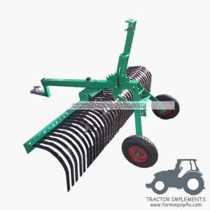 6ALRW - ATV Landscape Raker with rear wheel, height adjustable 6ft Manufactures