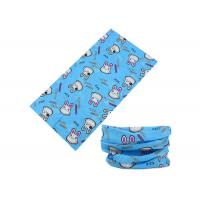 Polyester Blue Cute Design Kids  Head Scarf , 25*50 CM Breathable  Ski Neck Warmer Fast Dry Manufactures