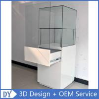 Popular 2 Layers Glass Jewellery Display Cabinets With Free 3D Design Service