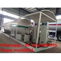 best quality skid mounted propane gas filling plant for sale, double electronic scales skid lpg gas station for sale Manufactures
