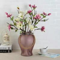 Handmade Home Sand Decorative Glass Vases Indoor Colored With Hemp Rope Manufactures