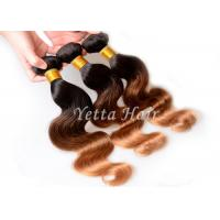 Honey Blonde Hair Ends Ombre Human Hair Extension With 3 Tone Color Manufactures