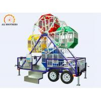 3 Kw Small Carnival Amusement Rides Portable Ferris Wheel With Trailer Manufactures