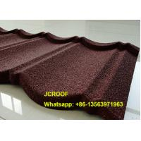 Black Milano Stone Coated Steel Roof Tiles 0.5mm Thickness With Long Life Manufactures