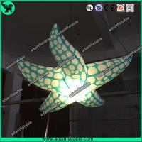 China Indoor Event Hanging Decoration Inflatable Character/Inflatable Starfish With LED Light on sale