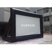 Outdoor Black PVC Tarpaulin Inflatable Movie Screen With Support Behind Manufactures