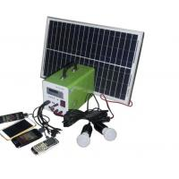 China USB Cable Home Solar Power System , Portable Solar Powered GeneratorFor Travel on sale