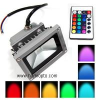 IP65 remote control 10w rgb led flood light/ LED Flood light RGB for Garden Manufactures