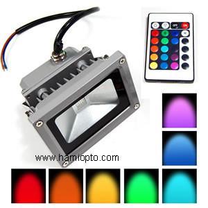 IP65 remote control 10w rgb led flood light/ LED Flood light RGB for Garden Manufactures