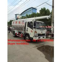 Quality Factory sale SINO TRUK HOWO LHD 12m3 farm-oriented animal feed truck, best price HOWO livestock and poultry feed vehicle for sale