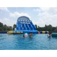 Durable Red / Blue Inflatable Water Park 0.9mm PVC Tarpaulin For Entertainment Manufactures