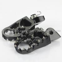 57mm High Quality Aluminum Dirt Bike Foot Pegs Wide Platform Measures For Sale Manufactures
