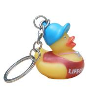 Funny Mini Rubber Ducks Shaped Toy Soft PVC Rubber Duck Keychain 5 Inch Manufactures