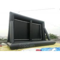 0.55 PVC Tarpaulin Outdoor Inflatable Projection Screen Portable For Family / Commercial Manufactures