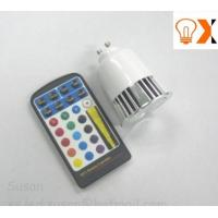 5w GU10/E27 RGB Indoor led color changing round light bulb with remote 6M Manufactures