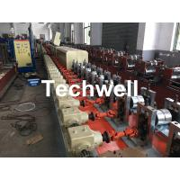 Aluminum , Carbon Steel Pu Foam Rolling Shutter Door Making Machine With Servo Tracking Flying-Saw Cutting Manufactures