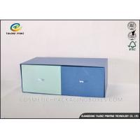Double Colors Cardboard Gift Boxes Fine Logo Printed Apparel Storage Box