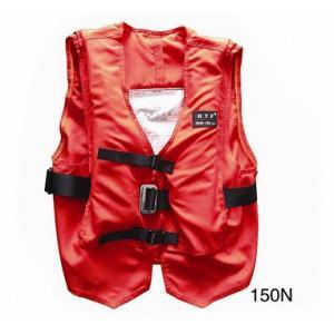 55cm*60cm Marine Life Saving Equipment Terylene Oxford Textile Self Inflating Life Jacket Manufactures