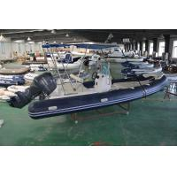 Deep - V Fiberglass Hull 600cm Rigid Bottom Inflatable Boats With Yamaha Motor Manufactures