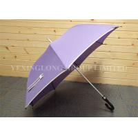 Windproof Auto Open Curved Handle Umbrella  Fiberglass Frame Aluminum Shaft Manufactures