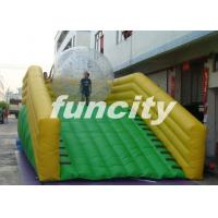 0.55mm PVC Tarpaulin Inflatable Zorb Ramp with continue air blower Manufactures