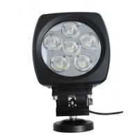 60W high power Led vehicle work light with Flood /Spot beam 6 inch for Off road vehicle Manufactures