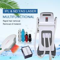 China 15 * 50mm Spot Size IPL Laser Hair Removal Machine / Nd Yag Tattoo Removal Equipment on sale