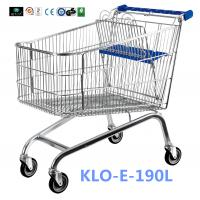 Unfoldable 190 Litre UK Shopping Cart / Metal Shopping Carts For Kids Manufactures
