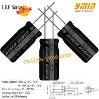 LKF Series 105°C 7000 ~ 10000 Hours Capacitor Radial Aluminum Electrolytic Capacitor for CFL Lamps RoHS Manufactures