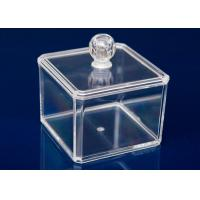 Transparent Plastic Display Stand Cube Box For Makeup With Lid Manufactures