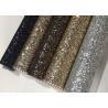 Single Side Precut Dark Grey Glitter Wallpaper Covering Convenience Unique Manufactures