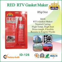 Silicone Air Proof RED RTV Gasket Maker Permanently Flexible Fast Curing Manufactures