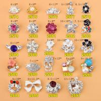 Hot NEW Wholesale Alloy Jewelry 3D Nail Art Jewelry Nail rhinestones Sticker Supplier Number ML2574-2597 Manufactures