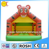 PVC Tiger Inflatable Combo Bouncers Rectangle Bounce House Games Manufactures