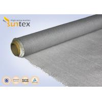 Fire Retardant Blanket PU Coated Fiberglass Fabric 0.77mm Thermal Fabric For Curtains Manufactures