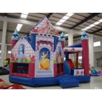 Reusable Inflatable Snow White Castle Attractive Digital Printing Fire Resistance Manufactures