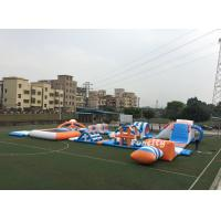 PVC Tarpaulin Inflatable Obstacle Water Park Inflatable Sport Games 37M * 22M Manufactures