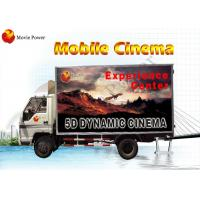Waterproof Cabin VR Truck Mobile 5D Cinema Sophisticated 6 - 12 Seat Manufactures