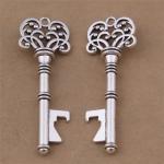 Personalized Promotion Gift Innovative Wedding Favor Antique Silver Key Shape Beer Bottle Opener Manufactures