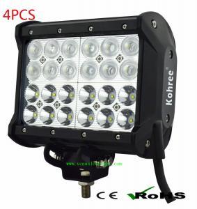 4 rows led work light bar 72W CREE LED Off Road ATV UTV Lightbar Lamp Manufactures