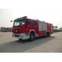 Quality Dry Powder / Foam Fire Service Truck , Piston Primer Pump Modern Fire Truck for sale