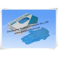 China Blue Nitrile Medical Surgical Gloves AQL 1.5 4 mil Powder Free on sale