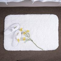 China Curved Machine Washing Hotel Bath Mat 100% Cotton Terry Bath Mat Rug For Hotel Spa Outdoor on sale