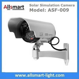 Silver Dummy Solar Powered Simulation Monitoring Camera Solar False Surveillance CCTV Camera Replica Ball Solar Gun Manufactures