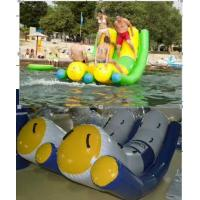 Fireproof 0.9mm PVC Tarpaulin Seesaw Good Tension Inflatable Water Floats Manufactures